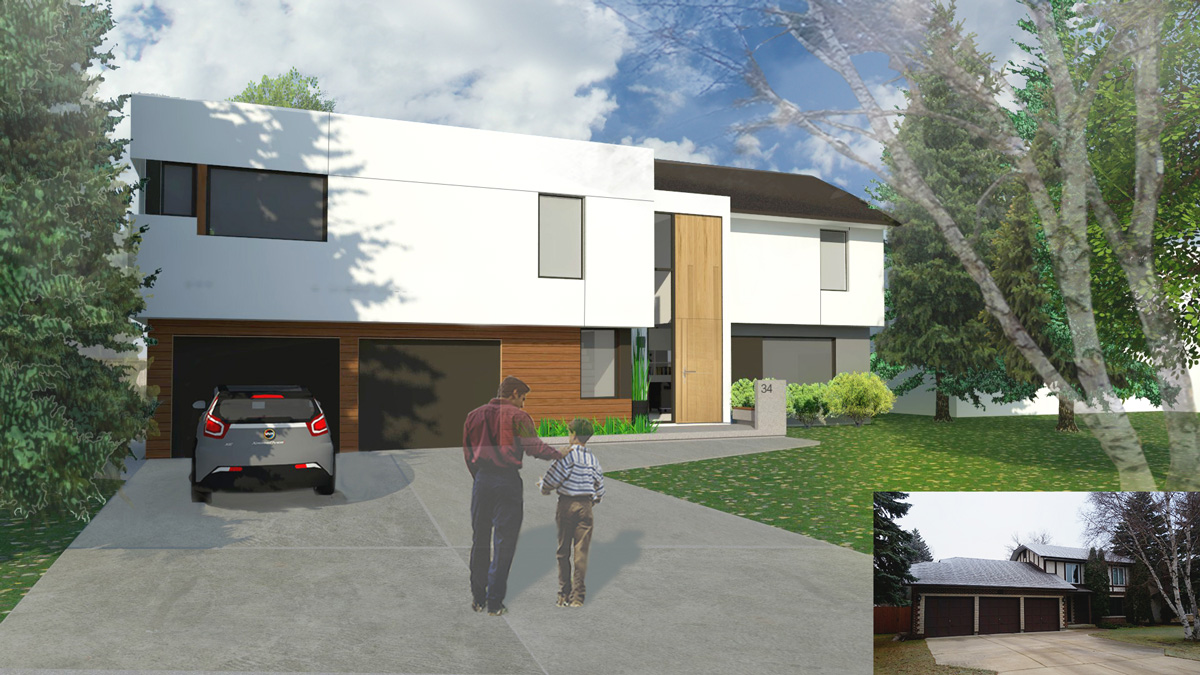 Unit 7 Architecture   Projects - Ramsgate Residence - BEFORE AND AFTER RENDERING