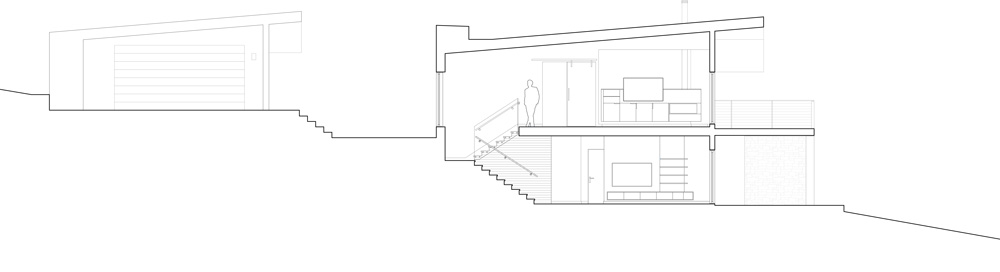 Unit 7 Architecture | Projects - Lake of the Prairies Summer Home - SECTION OF PROJECT