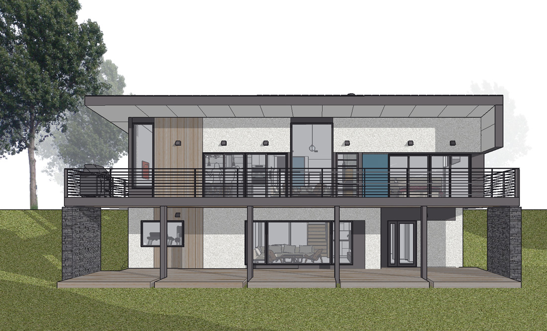 Unit 7 Architecture | Projects - Lake of the Prairies Summer Home