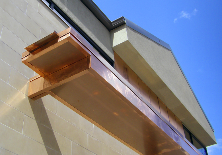 Unit 7 Architecture | Residential - Grenfell Residence TM - CUSTOM COPPER DOWNSPOUT
