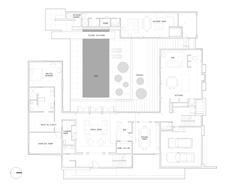 Unit 7 Architecture | Projects - Grenfell Residence TM - MAIN FLOOR PLAN