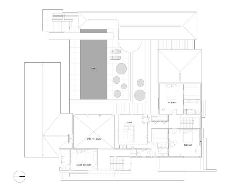 Unit 7 Architecture | Projects - Grenfell Residence TM - SECOND FLOOR PLAN