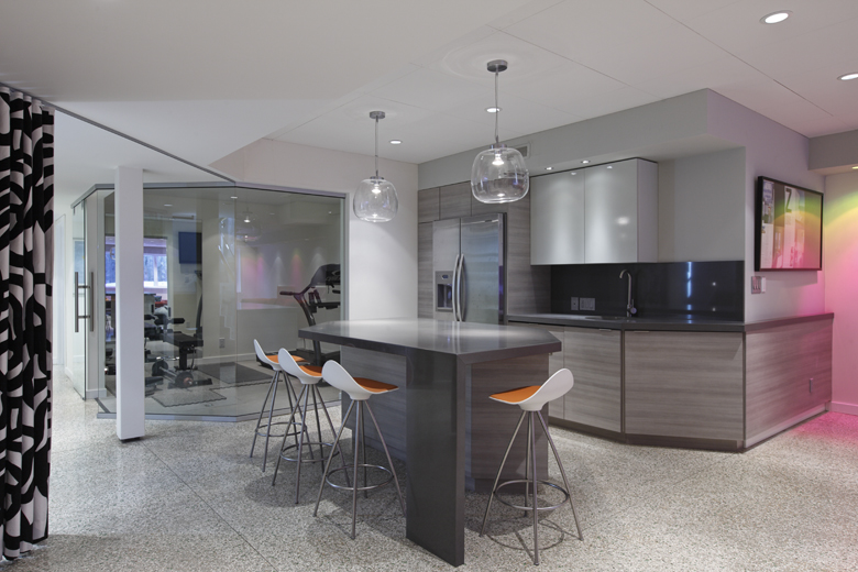 Unit 7 Architecture | Projects - Handsart Residence ZT - BASEMENT BAR AND FITNESS AREA