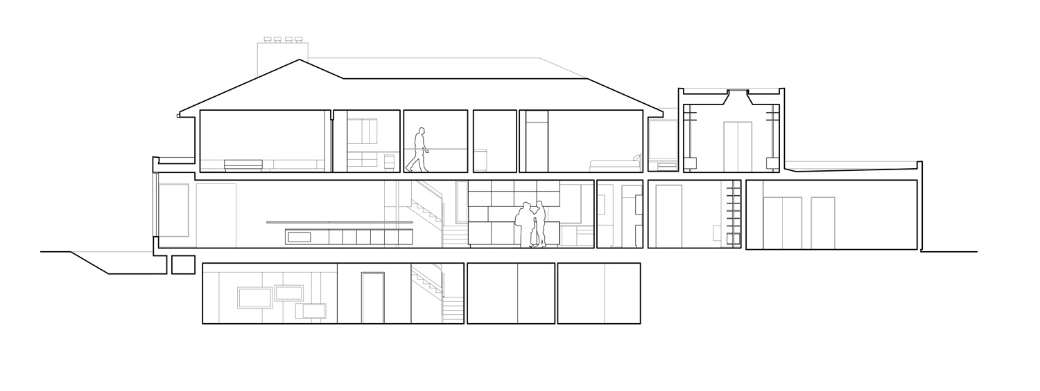 Unit 7 Architecture | Residential - Handsart Residence ZT - BUILDING SECTION