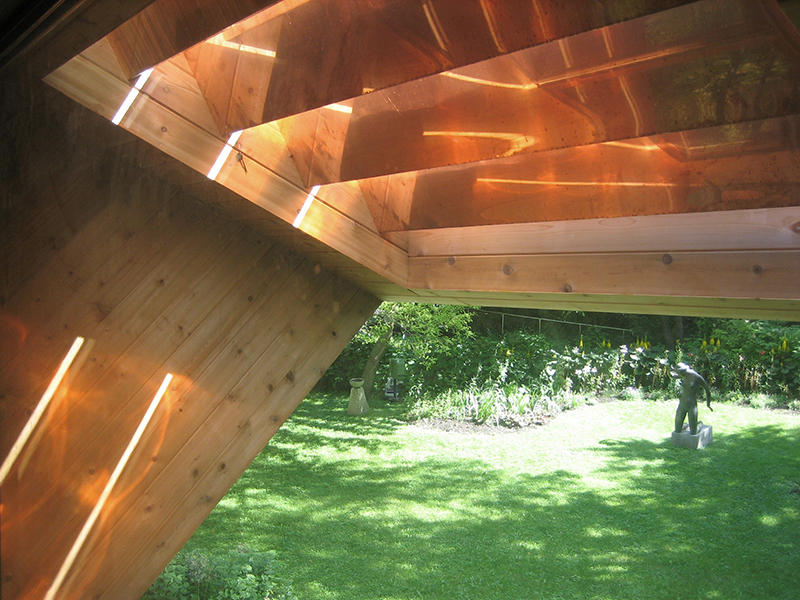 Unit 7 Architecture | Projects - Victoria Beach Summer Home V - DETAIL OF COPPER CLAD BRISE SOLEIL