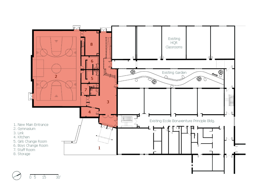 Unit 7 Architecture | Projects - école Bonaventure - MAIN FLOOR PLAN