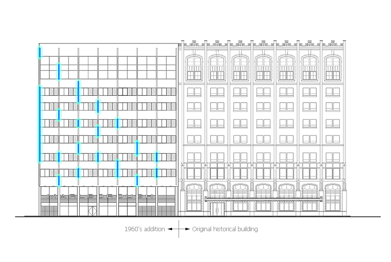 Unit 7 Architecture | Projects - Marlborough Hotel - WEST ELEVATION