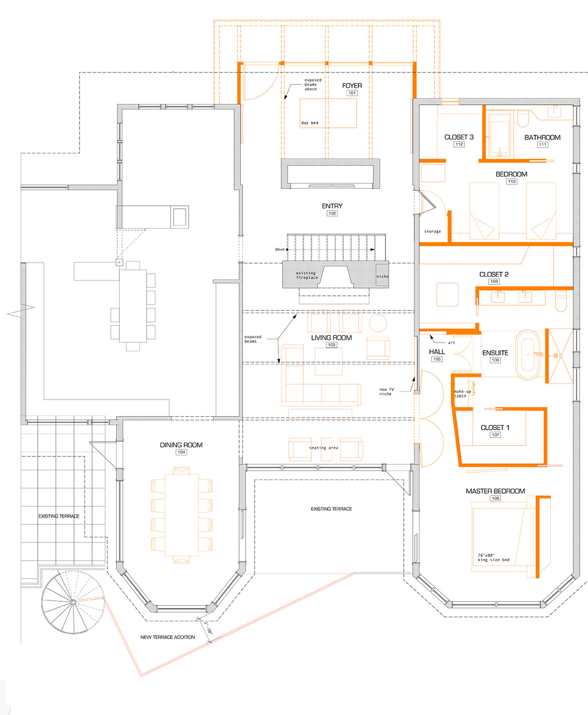 Unit 7 Architecture | Projects - South Drive Residence M - CONCEPT FLOOR PLAN