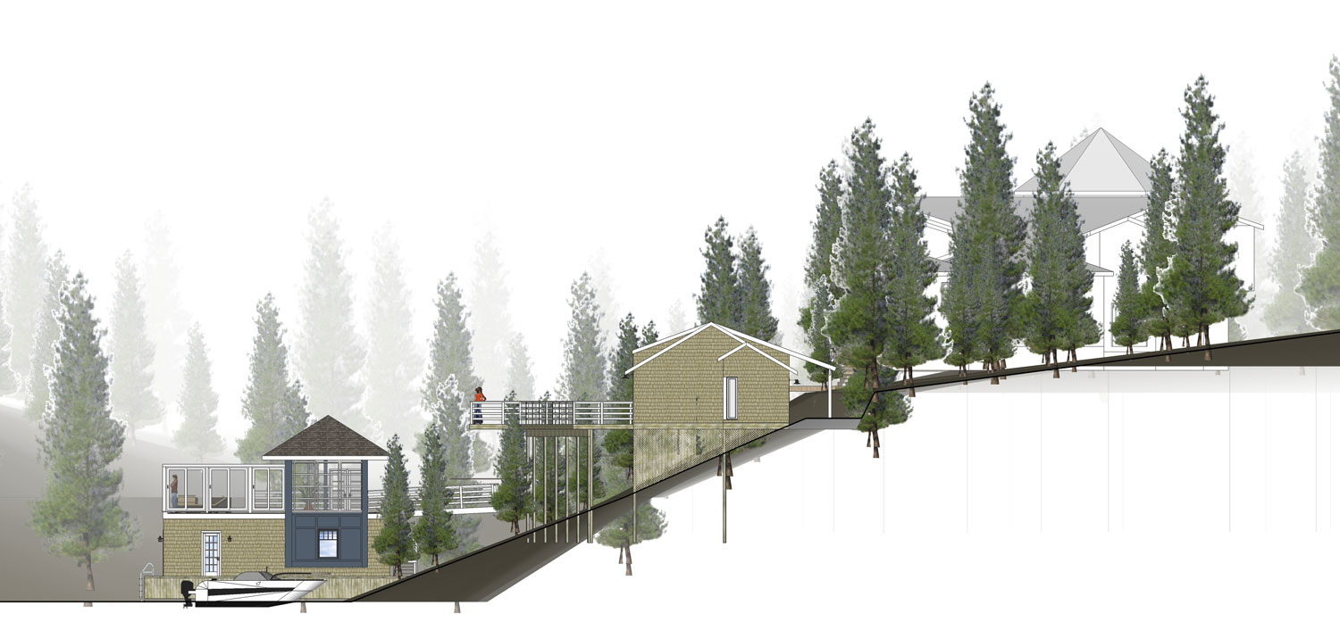 Unit 7 Architecture | Projects - Lake of the Woods Summer Home - EAST ELEVATION
