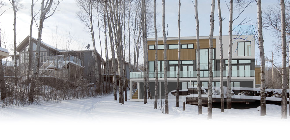 Unit 7 Architecture | Projects - Lake of the Prairies Summer Home - TWO-STOREY DESIGN STUDY