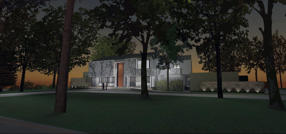 Unit 7 Architecture | Projects - Grenfell Residence WP - NIGHT STUDY RENDERING