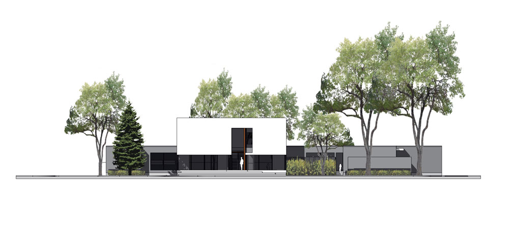 Unit 7 Architecture | Projects - Grenfell Residence WP - FRONT EXTERIOR RENDERING
