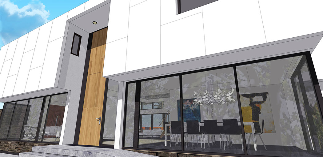 Unit 7 Architecture | Projects - Grenfell Residence WP - GLASS ENTRANCE RENDERING